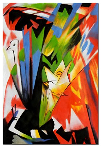 elOleo Franz Marc - Vögel 90x60 Gemälde auf Leinwand handgemalt 88993A