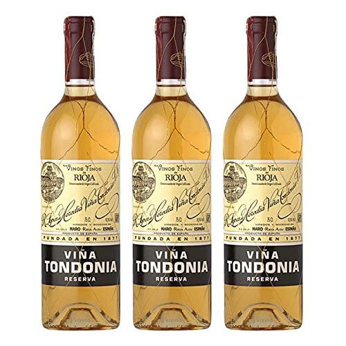 Vino Blanco Viña Tondonia Reserva 2006 de 75 cl - D.O. La Rioja - Bodegas R.Lopez de Heredia (Pack de 3 botellas)