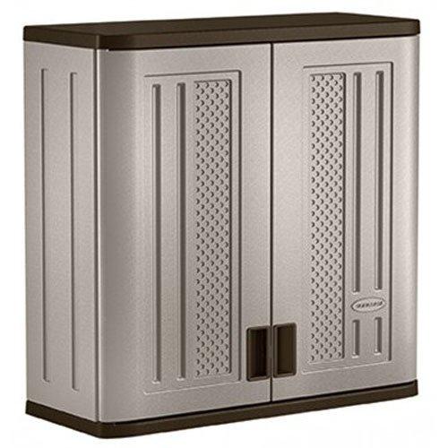 Suncast BMC3000 Cabinet-Resin Construction for Wall Mounted Garage Storage, 30.25' Organizer Doors &...