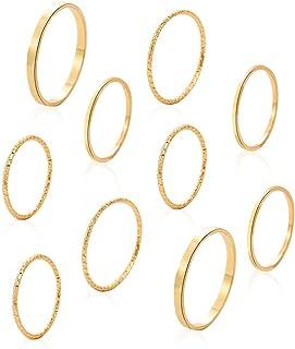 8-14 قطعة خواتم تكديس المفاصل للنساء فتاة. الحد الأدنى سلتيك عقدة الإصبع خواتم خمر متعددة متوسطة الطول