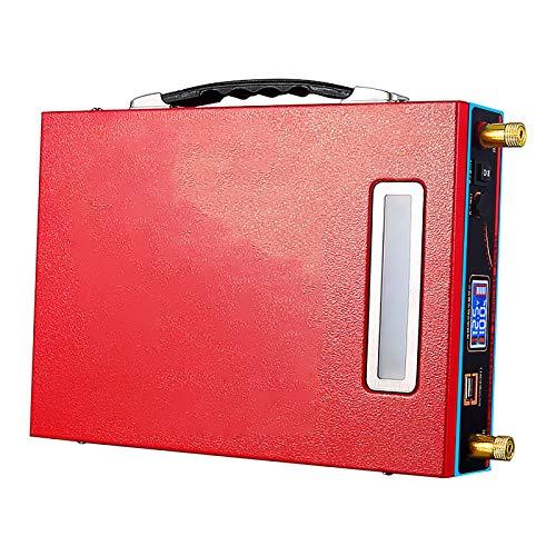 ZXWNB 12V Batterie Au Lithium Extérieure 12V100ah Lampe Au Xénon Polymère Grande Capacité Onduleur Batterie Au Lithium Extérieure Batterie Au Lithium Compacte,Rouge,C