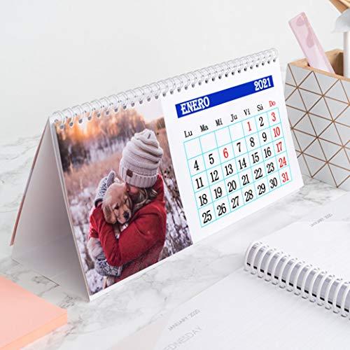 Calendario 2021 sobremesa personalizado con fotos...