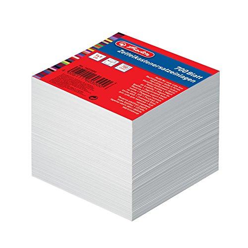 Herlitz 1603000 Zettelkastenersatzeinlage 9 x 9 cm, 700 Blatt, weiß