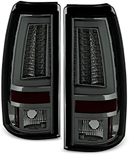 For 2003-2006 Silverado / 05-07 Silverado Hybrid Pickup Truck Red Smoke V2 LED Tail Lights Brake Lamps Pair