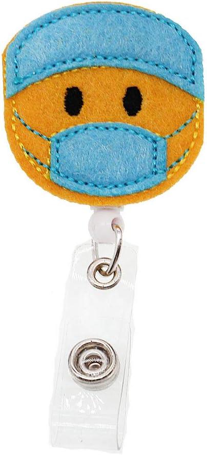 Protect gift Nurse Rare Felt Badge Holder Name C ID Retractable Reel