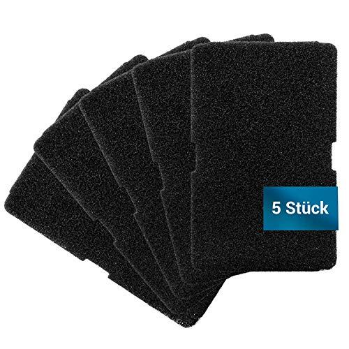 Set di 5 filtri in schiuma, come Beko 2964840100 TKF7451, 240 x 155 mm, per scambiatore di calore, asciugatrici, asciugatrici, asciugatrici