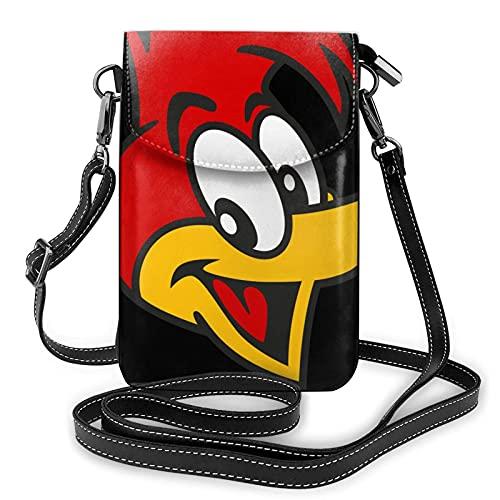XCNGG Kleine Geldbörse Woody Woodpecker Crossbody Bags for Women's Crossbody Handbags Cell Phone Purse Waterproof Leather Handbags Small Wallet