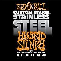 【 並行輸入品 】 Ernie Ball (アーニーボール) エレキギター - Stainless Steel Hybrid Slinky, .009 - .046, 2247