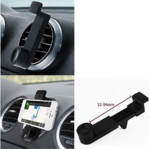 K-S-Trade Lüftungs Halterung Kompatibel Mit OnePlus 3 KFZ-Halterung Autohalterung Smartphonehalterung Lüftungsgitter Lüftungs Schlitze Schwarz