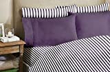Homelux 1800 Series 4-Piece Bamboo Egyptian Full Sheet Set with 2 Pillowcase, Purple