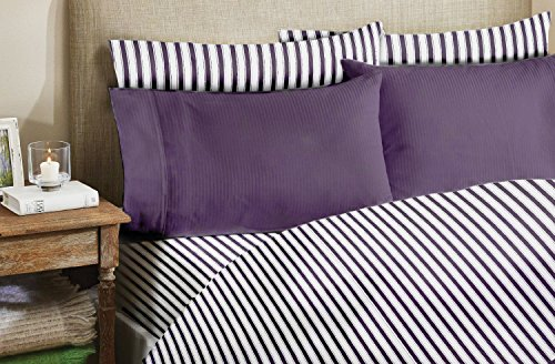 homelux beddings Homelux 1800 Series 4-Piece Bamboo Egyptian Full Sheet Set with 2 Pillowcase, Purple