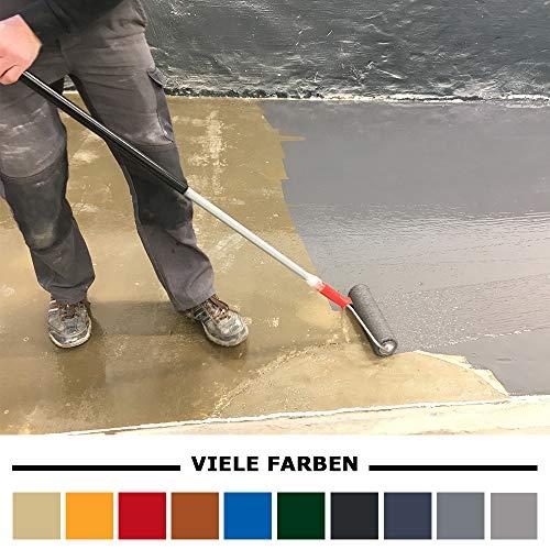 Home Profis® HPBA-500 Epoxidharz Bodenbeschichtung Außen (25m²) – Epoxy Balkon Terrasse Treppen Carport Stufen Bodenfarbe Fliesenfarbe Gießharz Beton Holz Estrich (RAL 7016 Anthrazitgrau)