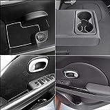 Auovo for Kia Soul Accessories 2014 2015 2016 2017 2018 2019 Interior Anti-dust Car Cup Holder Inserts,Center Console Liner Mats,Door Pocket Liner Mat Premium Custom (White)
