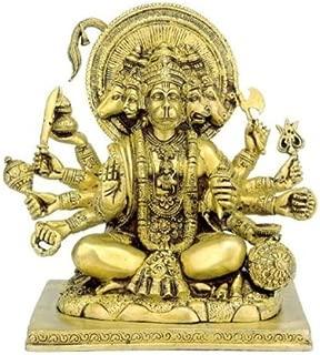Gangesindia Panchmukhi Hanuman - Brass Sculpture BS0223