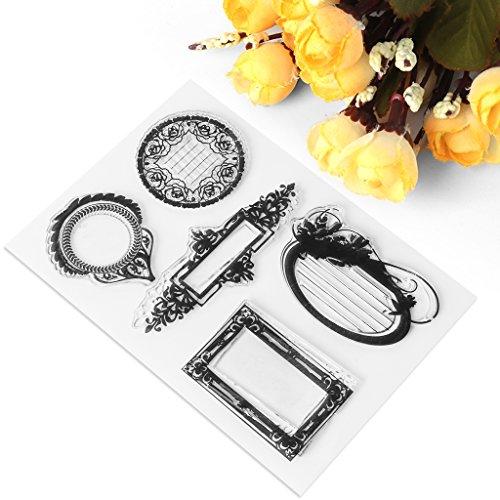 exing plantilla transparente de silicona, tuercas de sello de tuercas para el álbum de recortes de fotos de tarjeta, marco de tema de Devise