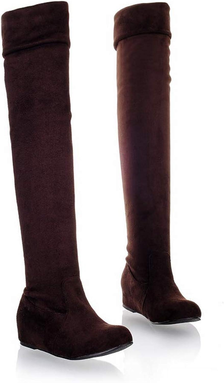 Bottes à genoux, bottes cachées, talons bas, robes, orteils ronds, orteils d 'hiver, bottes de cuisses chaudes.