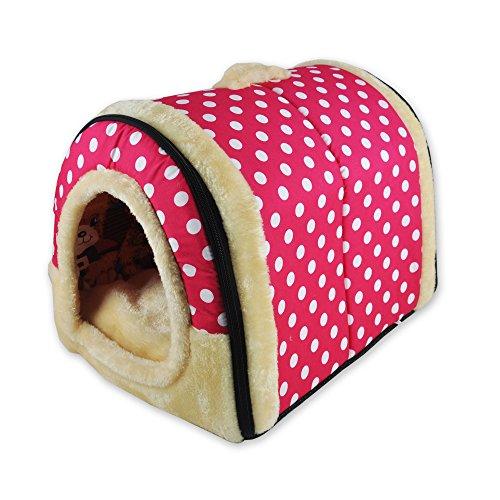 ANPPEX 2 en 1 Casa y Sofá para Mascotas, Lavable a Máquina Casa Cama de Perro Gato Puppy Conejo Mascota Antideslizante Plegable Suave Calentar con Cojín Extraíble Colchón