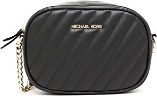 Michael Kors MK Women's Bag Small Oval Crossbody Twill Sheepskin Camera Bag