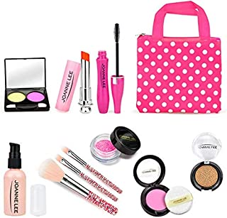 HOWADE Pretend Makeup Kit Toys,Safe & Non-Toxic Princess Play Cosmetic Set Toys with Compact Beauty Bag Toys for Girls Age...