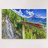 Jigsaw Puzzles 1000 Pieces For Adults Large Piece Puzzle Matterhorn Zermatt Switzerland Wooden Jigsaw Puzzle Intellectual Puzzles Fun Challenging Family Activity Game Toys Gift Wall Decoration