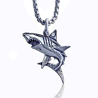 KeyLimeBay Shark Pendant Crafted in Sterling Silver on Durable 24