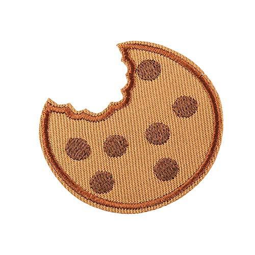 Demarkt 10 Stück Burger-Keks Bestickt Aufbügeln Patch Stickerei Applique von DIY Tuch Kunst Stickerei Dekoration Patches Bestickt Ornamente