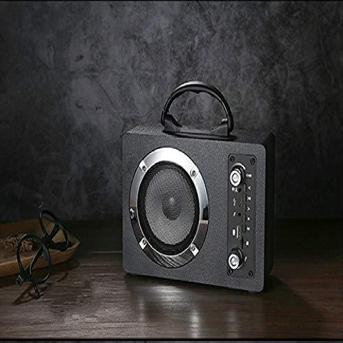 JHMAOYI Lautsprecher Holz Bluetooth Lautsprecher High Power Outdoor Tragbare Drahtlose K Song Lautsprecher Karte Speake