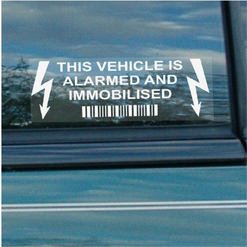 5x coche, furgoneta, truckvehicle Alarma inmovilizador de y (Alarma de Seguridad Advertencia Pegatinas