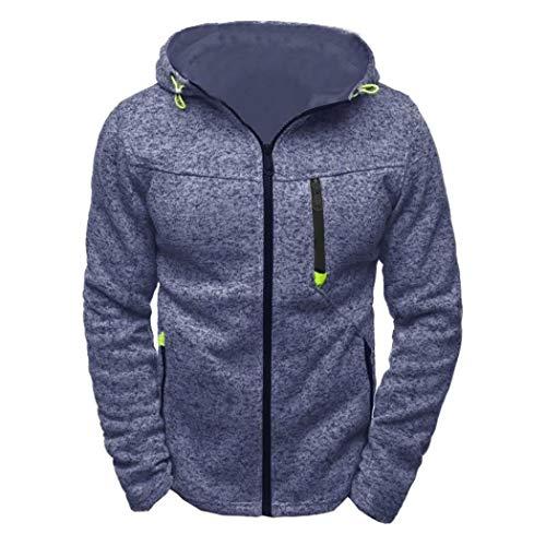 Sweat-Shirt à Manches Longues pour Homme,Covermason Sweat-Shirt Homme Manches Longues Pull Hoodies Zippé Bomber Blouson Veste Sport Pull-Over Jacket Tops Manteau Outwear