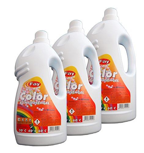 10 x Color Buntwaschgel von Fay, Waschmittel, Waschgel, Konzentrat, Buntwäsche