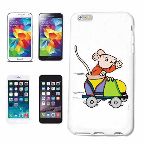 Bandenmarkt telefoonhoes compatibel met iPhone 7+ Plus muis in rolschaats cartoon plezier fun cult top cartoon plezier fun cult top hardcase beschermhoes mobiele telefoon cover Smar