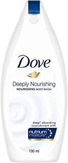 Dove Deeply Nourishing Body Wash, With Exfoliating Beads For Softer, Smoother Skin, 190 ml