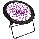 Zenithen Limited Bungee Folding Dish Chairs (Pack of 1, Plum)