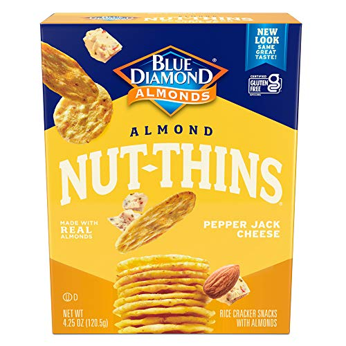 Blue Diamond Almond Nut-Thins, Pepper Jack, 4.25 Ounce (Pack of 6)