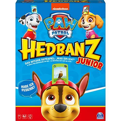 Hedbanz Junior – Paw Patrol, das witzige Ratespiel für 2-4 Fellfreunde ab 4 Jahren