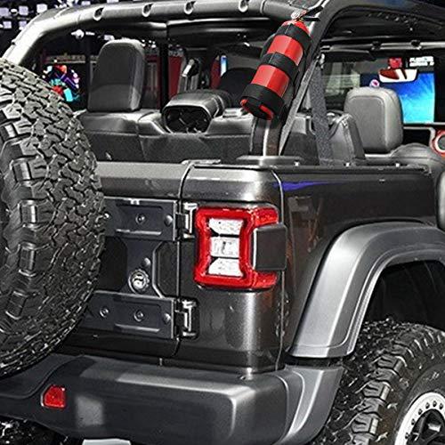 Luxiv Fire Extinguisher Mount Holder for Jeep, 3rd Party Accessory for Jeep Wrangler Fire Extinguisher Holder Roll Bar Fire Extinguisher Strap for Jeep Wrangler CJ, YJ, TJ, LJ, JK, JKU, JL, JLU