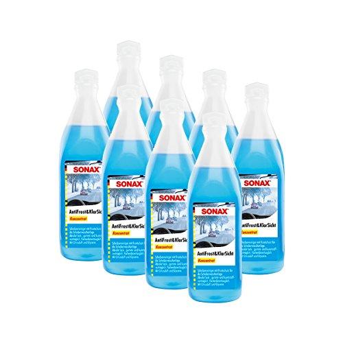 SONAX 8X 03321000 AntiFrost&KlarSicht Konzentrat Frostschutz Citrusduft 250ml