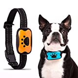 epetomize Anti Bark Dog Collar NO SHOCK - Safe harmless Anti Bark Collar with HUMANE VIBRATION - Small and Large dog Breeds - Automatic Activation Barking Collar - Deterrent device with No Remote