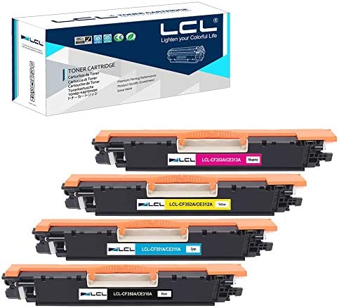 LCL Remanufactured Toner Cartridge Replacement for HP 130A CF350A CF351A CF352A CF353A CE310A product image