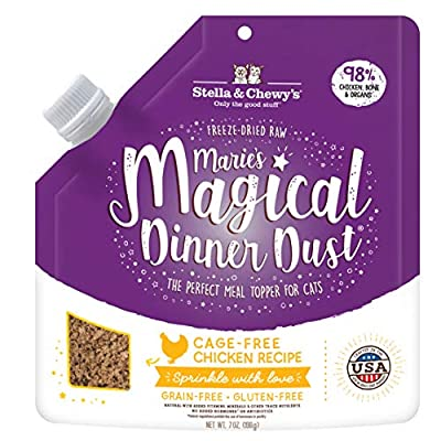 Stella & Chewy's Marie's Magical Dinner Dust Cage Free Chicken Cat Food Topper, 7 oz. Bag (MMDD-CAT-C-7)