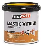 Toupret 470020 - Masilla para colocación/enmasillado de cristales, color blanco, 1 kg