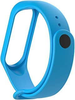 MI cosa Adjustable Xiaomi Mi Band 3/ Mi Band 4 Watchband Silicone Strap Light Blue Colour (only for mi Band 3i, 3 and 4) Band Bracelet (Not Compatible with Mi Band 1/2)