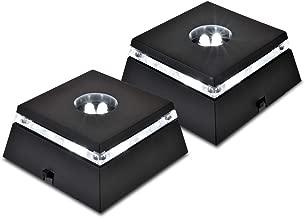 Santa Cruz Lights 2 Pack LED White Light Stand Base for Crystals/Glass Art