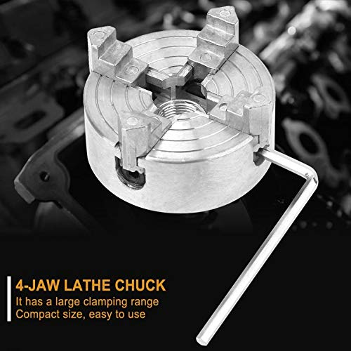 KSTE Z011A Zinc Alloy 4-Jaw Chuck Clamp Accessory for Mini Metal Lathe