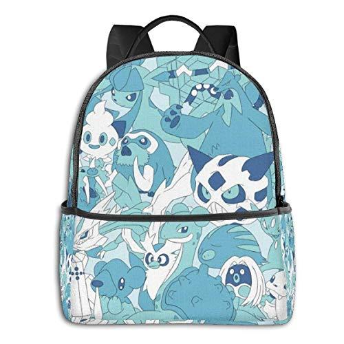 Adhyr Kinderschulrucksack 14,5 'All Ice Type Poke mon Kinderrucksack Casual Daypack für Jungen und Mädchen im Freien