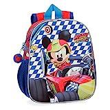 Disney- Mochila Mickey Race, Multicolor, 25 cm (4282061)