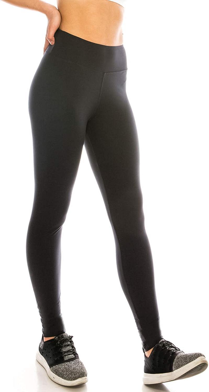 ShyCloset Women's High Waist Leggings - Print Fashion Plain Solid Yoga Workout Soft Pants Ankle Capri Tights Tummy Control