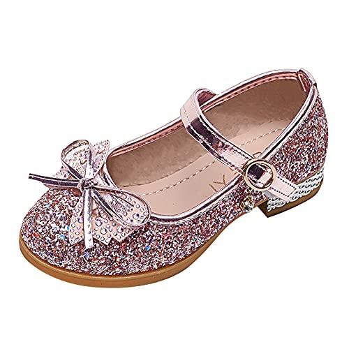 Zapatos Princesa niñas Sandalias niña de Verano Zapatos Tacon niña por Regalos Bonita Zapatos de Bautizo de Princesa de Vestir Zapatos de comunion niña Merceditas niña Zapatos de Baile Show Sandals