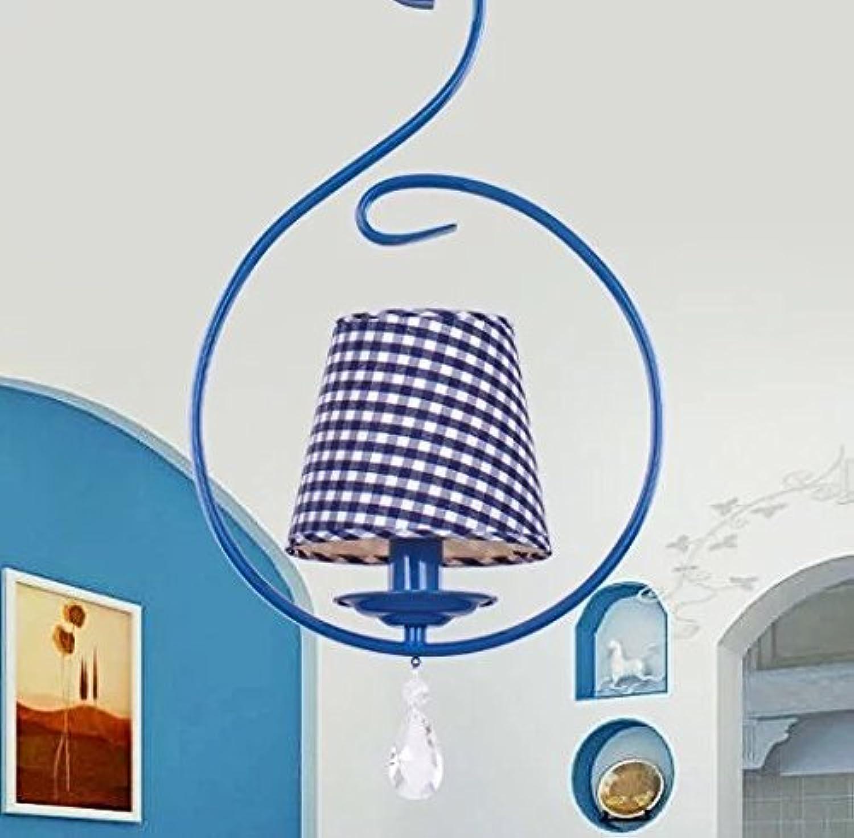 Global-Mittelmeer modernen minimalistischen Licht blauen Kristall schmiedeeiserne Kronleuchter