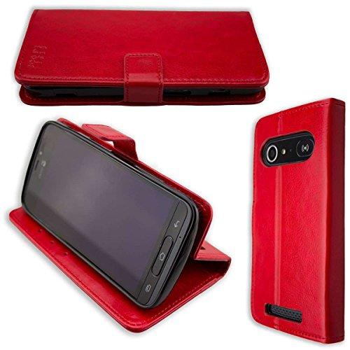 Coque pour Doro 8040/8042, Bookstyle-Case Étui de Protection Antichoc pour Smartphone (Coque de Coloris Rouge)